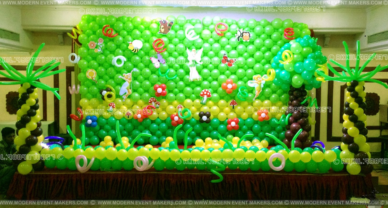 Event management company balloon decoration modern for Ballom decoration