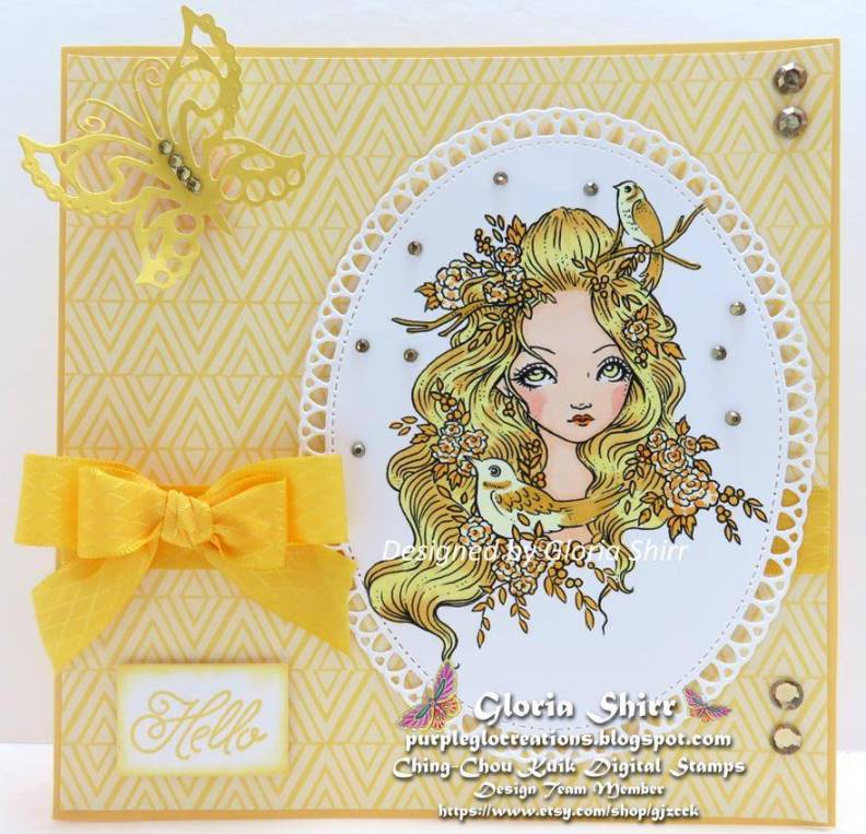Featured Card at Scrapbook Stamp Society Challenge