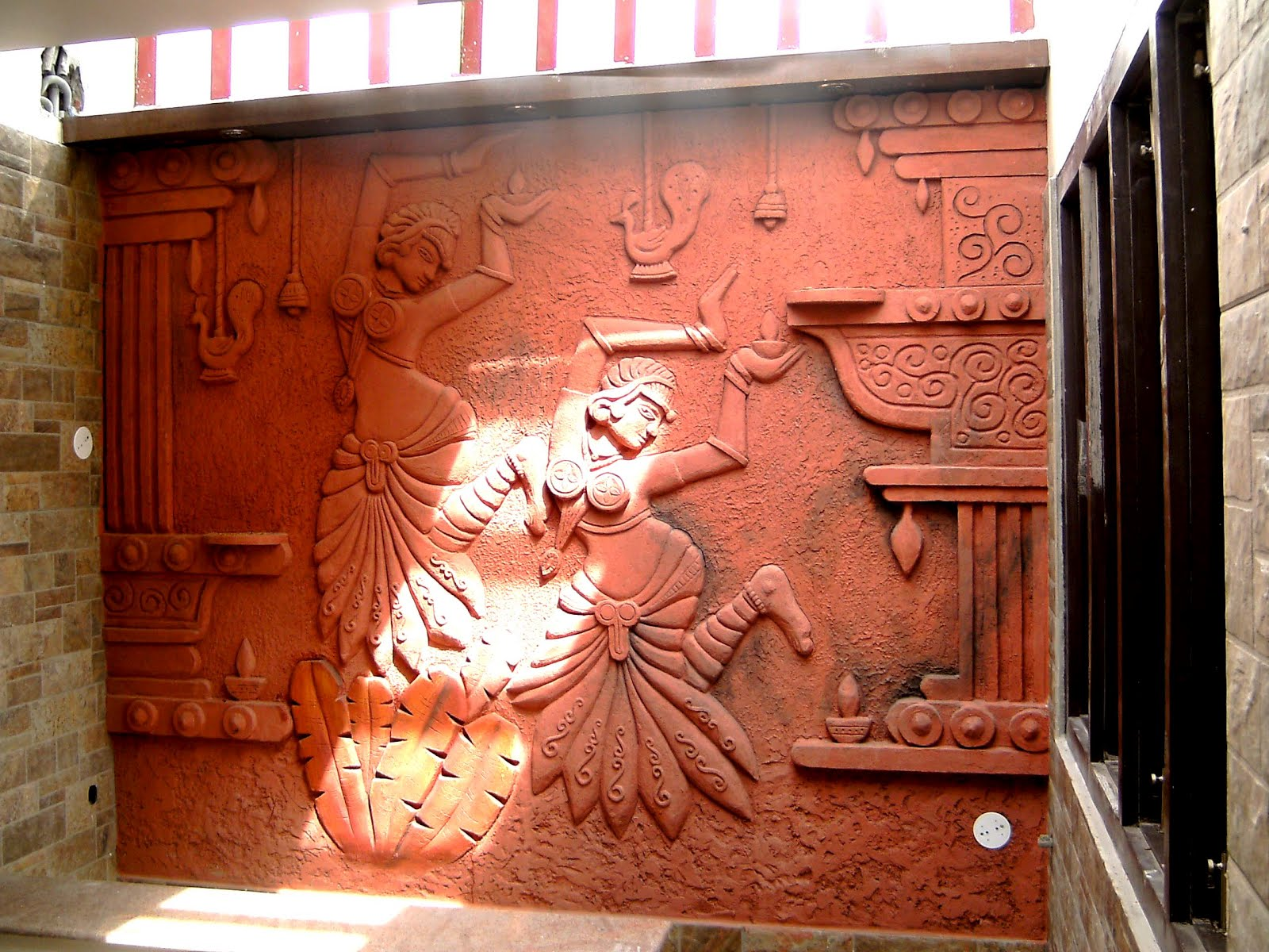 Siporex sculptor in hyderabad for 3d wall mural painting