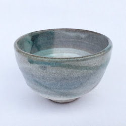 長石釉とリングのミニ茶器