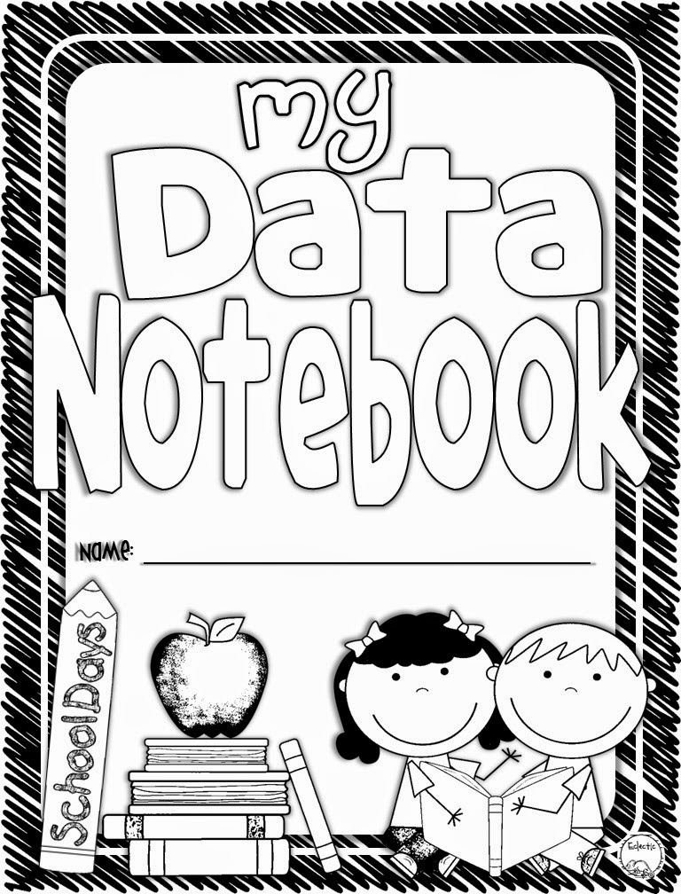 Student Book Cover Template ~ Eclectic elementary data notebooks