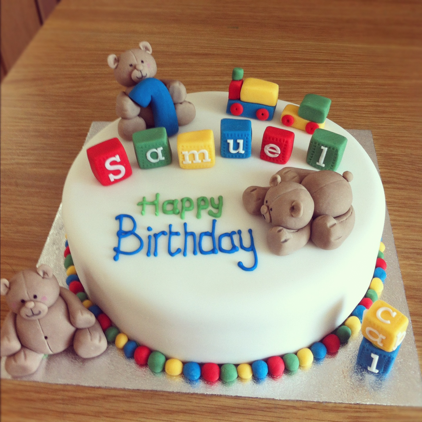 Cake Ideas For Baby Boy 1st Birthday : Caked in Icing: First Birthday Cake
