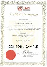 Sijil Penamatan / Certificate of Completion