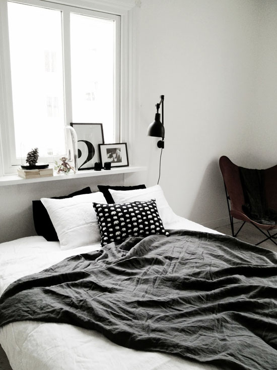 Bedroom styled by Charlotte Ryding for Alvhem.
