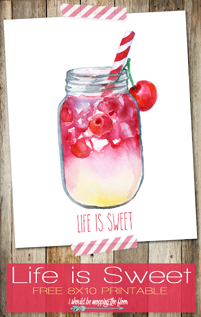 free printable summer life is sweet
