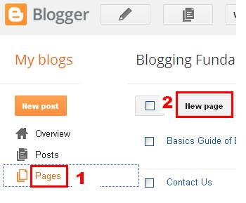 Creating Blog Pages to build Menubar by BloggingFunda