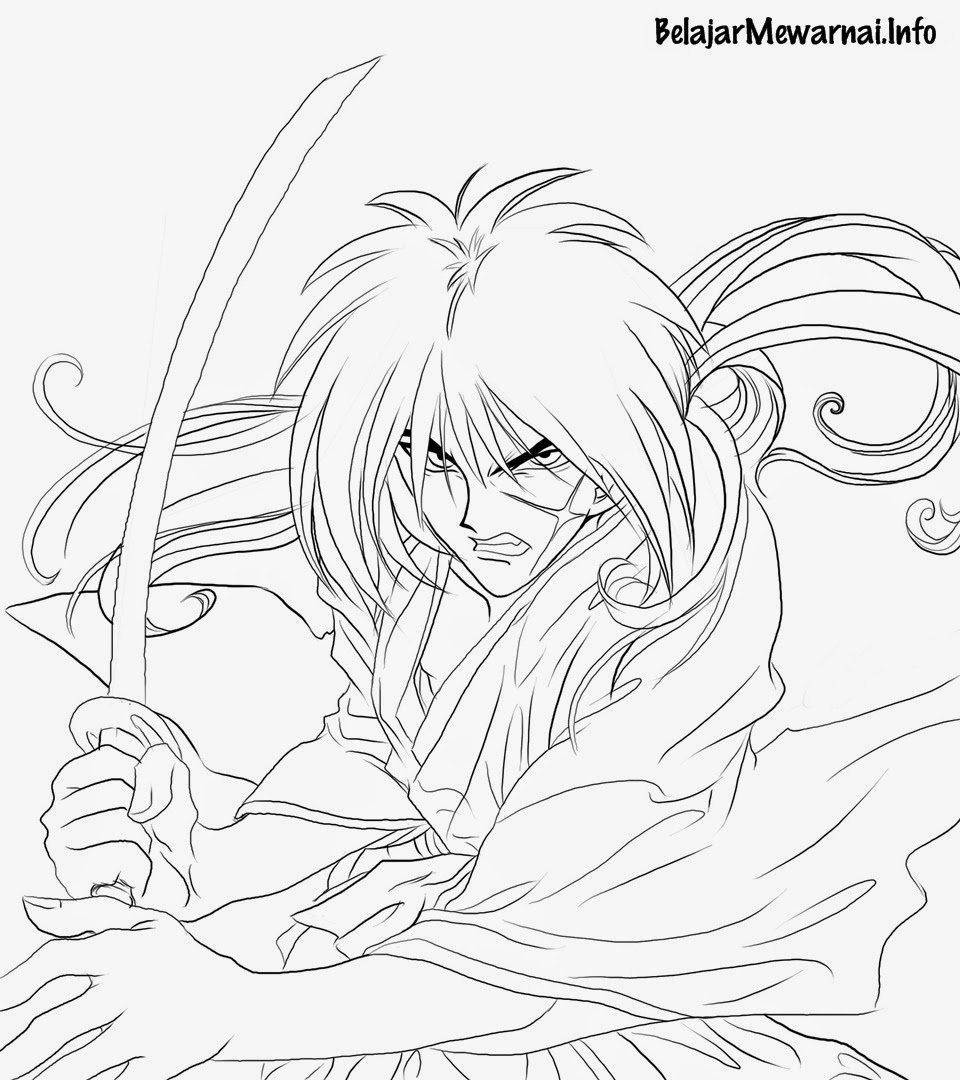 Gambar Mewarnai Samurai X