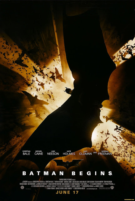Christopher Nolan Batman Begins Film Poster
