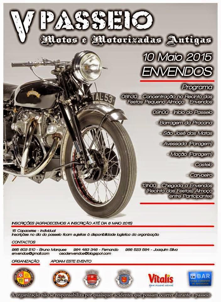 V Passeio de Motos e Motorizadas Antigas - 10/05/2015