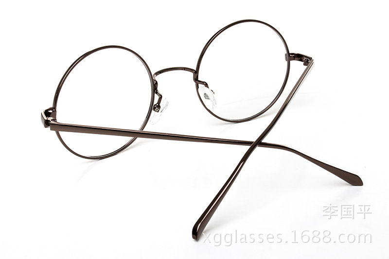 Retro wire round frame eyeglasses - antique cute circle glasses ...