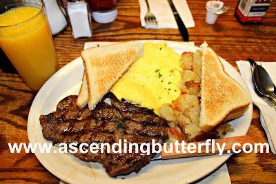 Hanks Place, BrandyWine Valley, #BVFoodie, Breakfast, Steak and Eggs