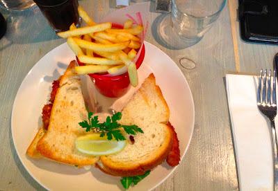 Bill's Homemade Cod Fish Finger Sandwich