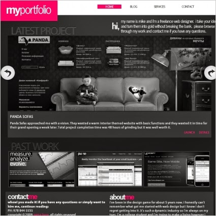 my portfolio template 2014,free html template,one column,black color template,latest template,my portfolio,free download