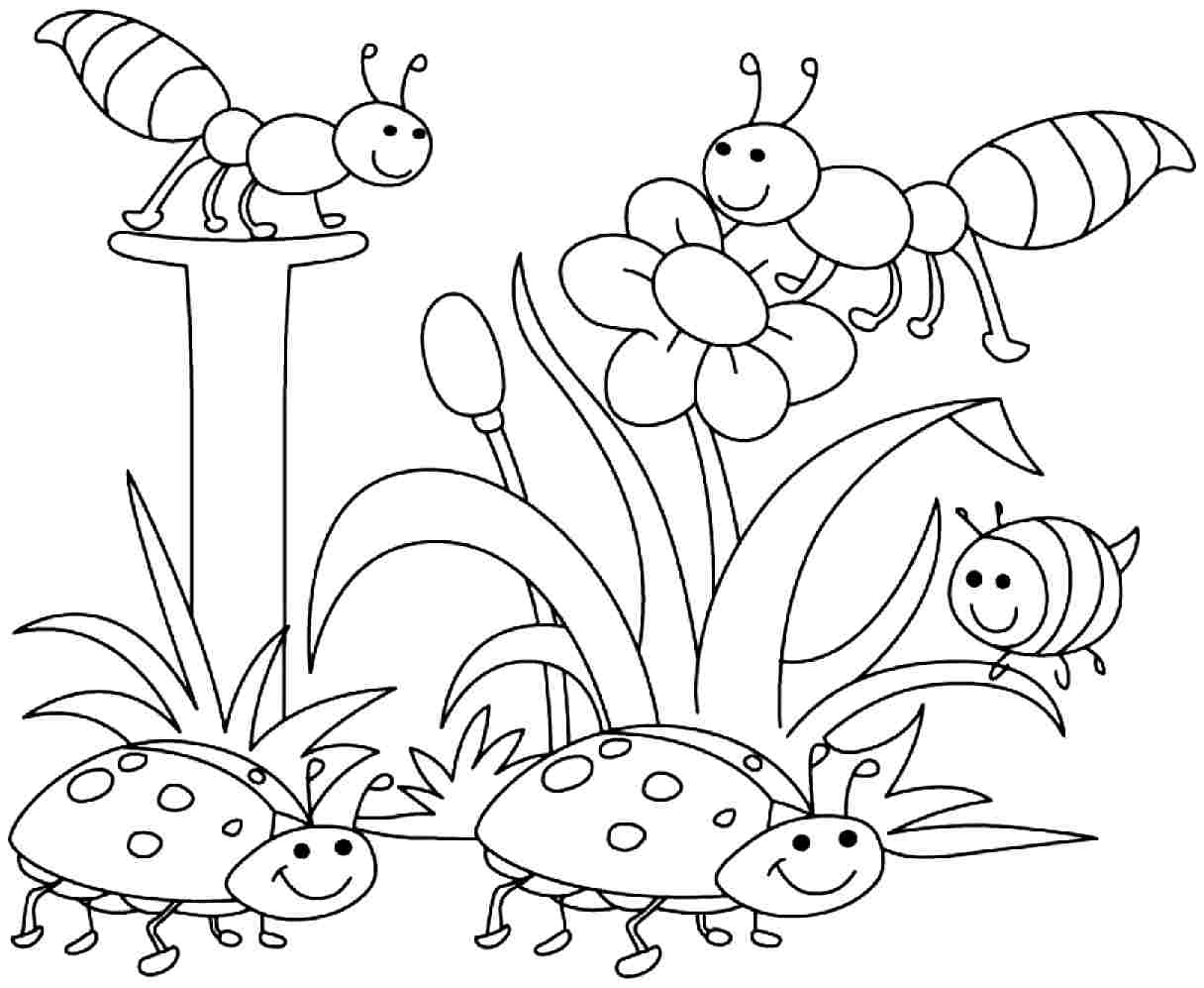 Free printable coloring pages of spring - Colouring Sheets For Toddlers Kindergarten Colouring Worksheet March Spring Coloring Pages Monday 21 March 2016