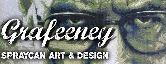 spray paint canvas art, design and graffiti by 2013 world stencil art prize finalist John Feeney