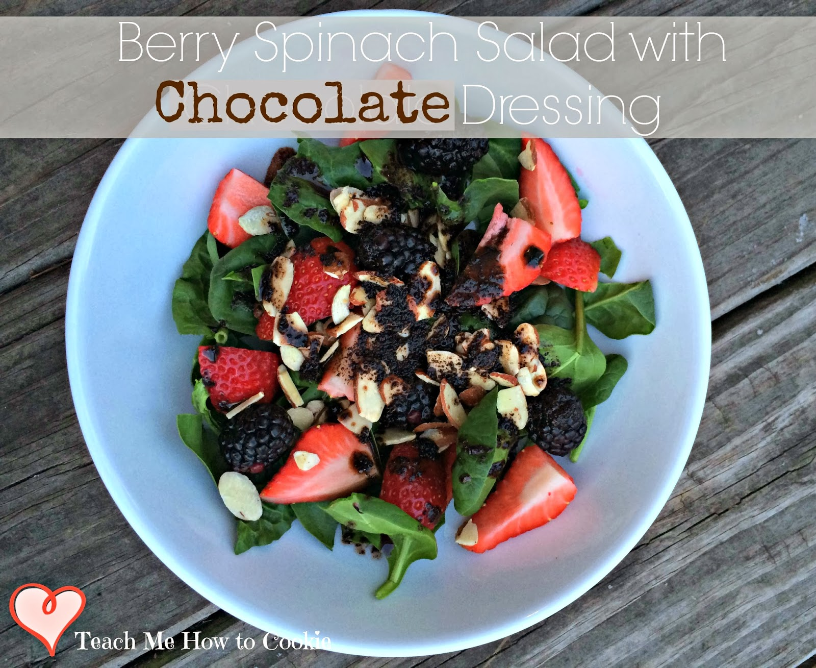 Berry Spinach Salad with Chocolate Dressing