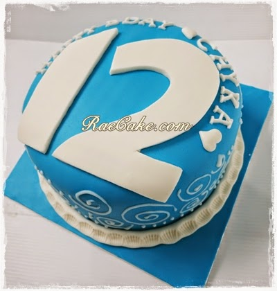 Number 12 Cake for Chyka | Kue Ulang Tahun, Birthday Cake ...