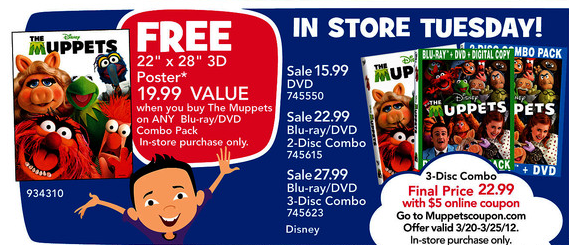 Toys R Us Dvd : Blu ray dvd exclusives the muppets toys r us exclusive