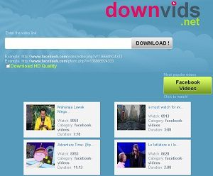 Downvids.net: Facebook Video Downloader