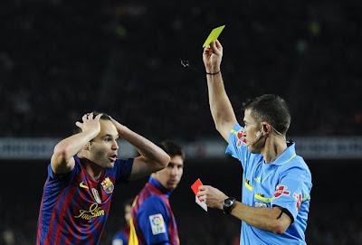 kartu kuning di sepak bola