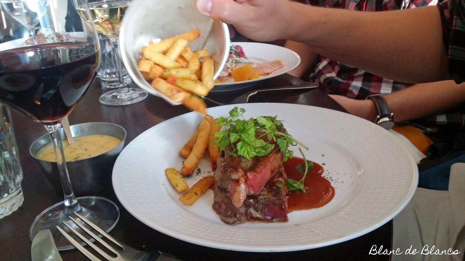 Griffins Steak House entrecôte - www.blancdeblancs.fi