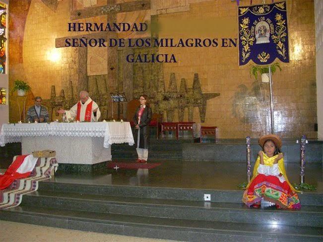 """.HERMANDAD """"SEÑOR DE LOS MILAGROS EN GALICIA"""" ESPAÑA"""
