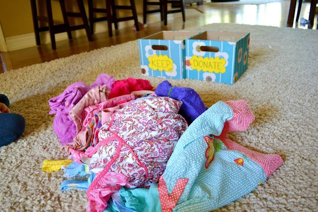 Little girls Spring dresses to sort and donate