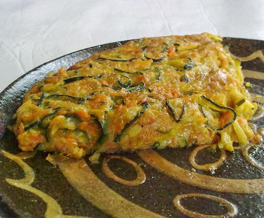 Tortilla de Calabacin, Vegana
