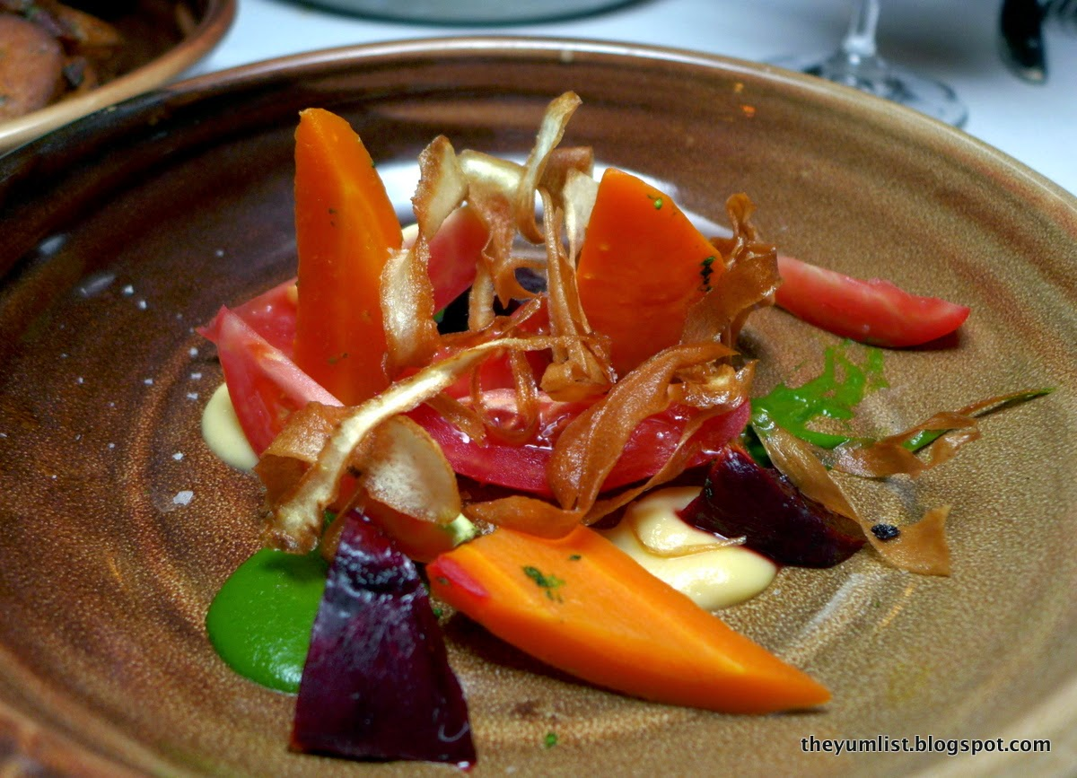 Homage, A La Carte Menu, Spicers Hidden Vale