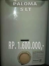 jual heater gas paloma bekas murah