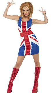 Ginger Spice Union Jack Women Halloween Costume