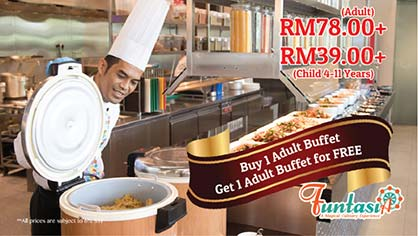BUY 1 FREE 1 Buffet Lunch @ Bangi Resort Hotel! Dont Say Bojio!