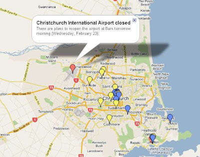 Earthquake Christchurch New Zealand Map. Christchurch, New Zealand
