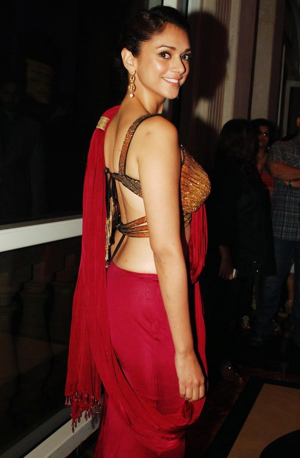 aditi rao hydari hot backless navel hd pics in saree