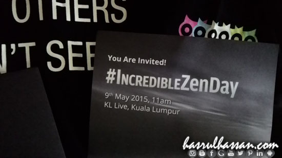 Undangan Incredible Zen Day by Asus