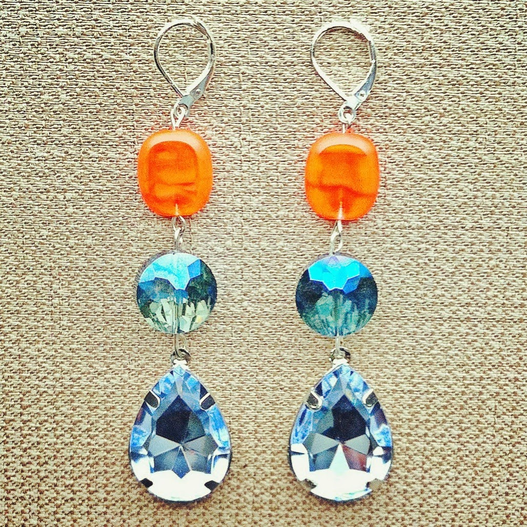 M Renee Design, win free jewelry, jewelry giveaway, jewels with style, colorful earrings, statement earrings, blue statement earrings