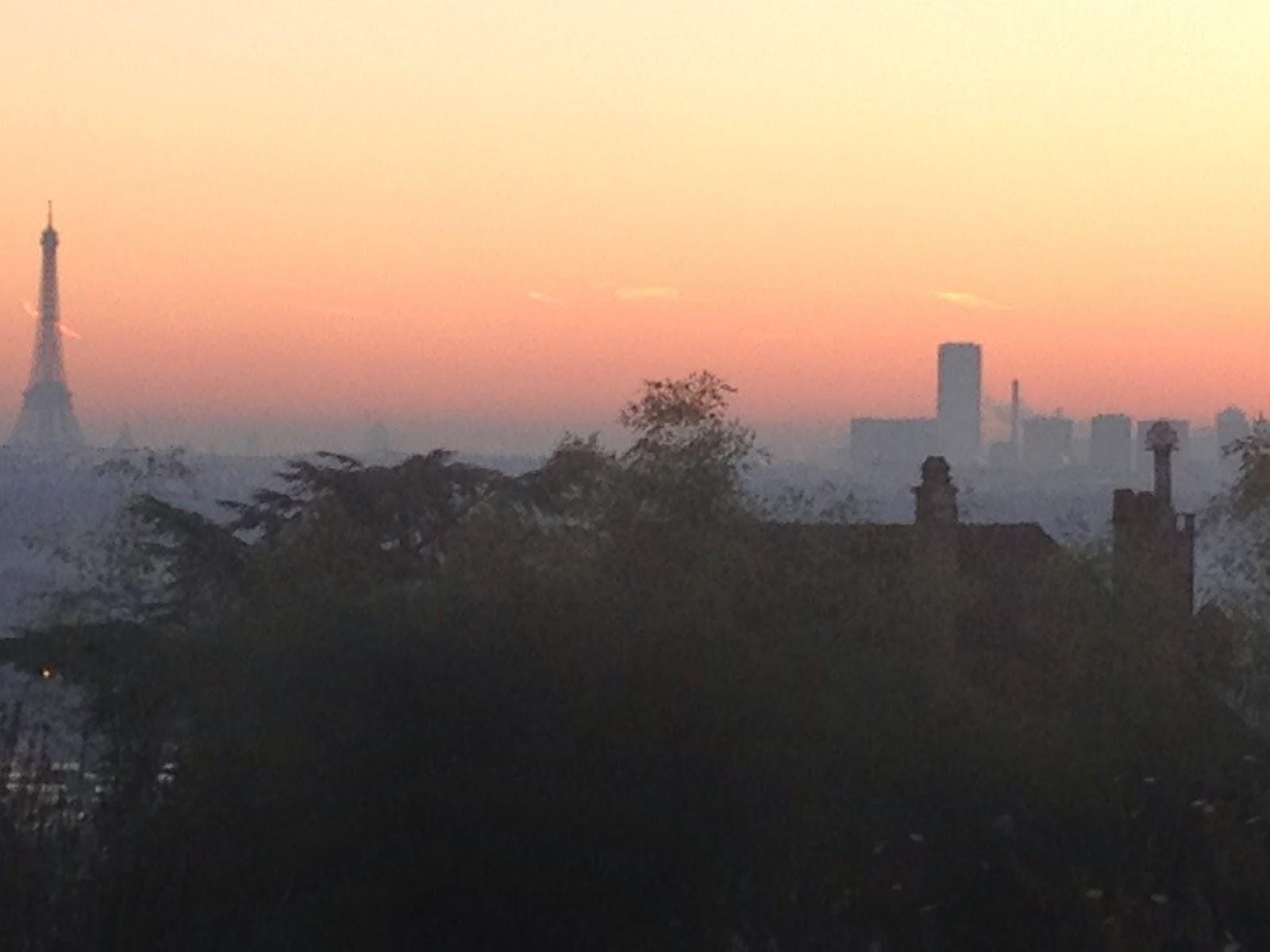 sunrise over paris 1 january 2015