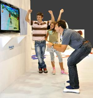 The Mario and Sonic Wii Balance Board experience.
