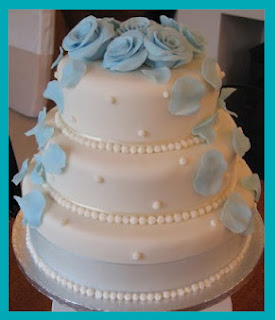 Wedding Cakes Round Blue Roses