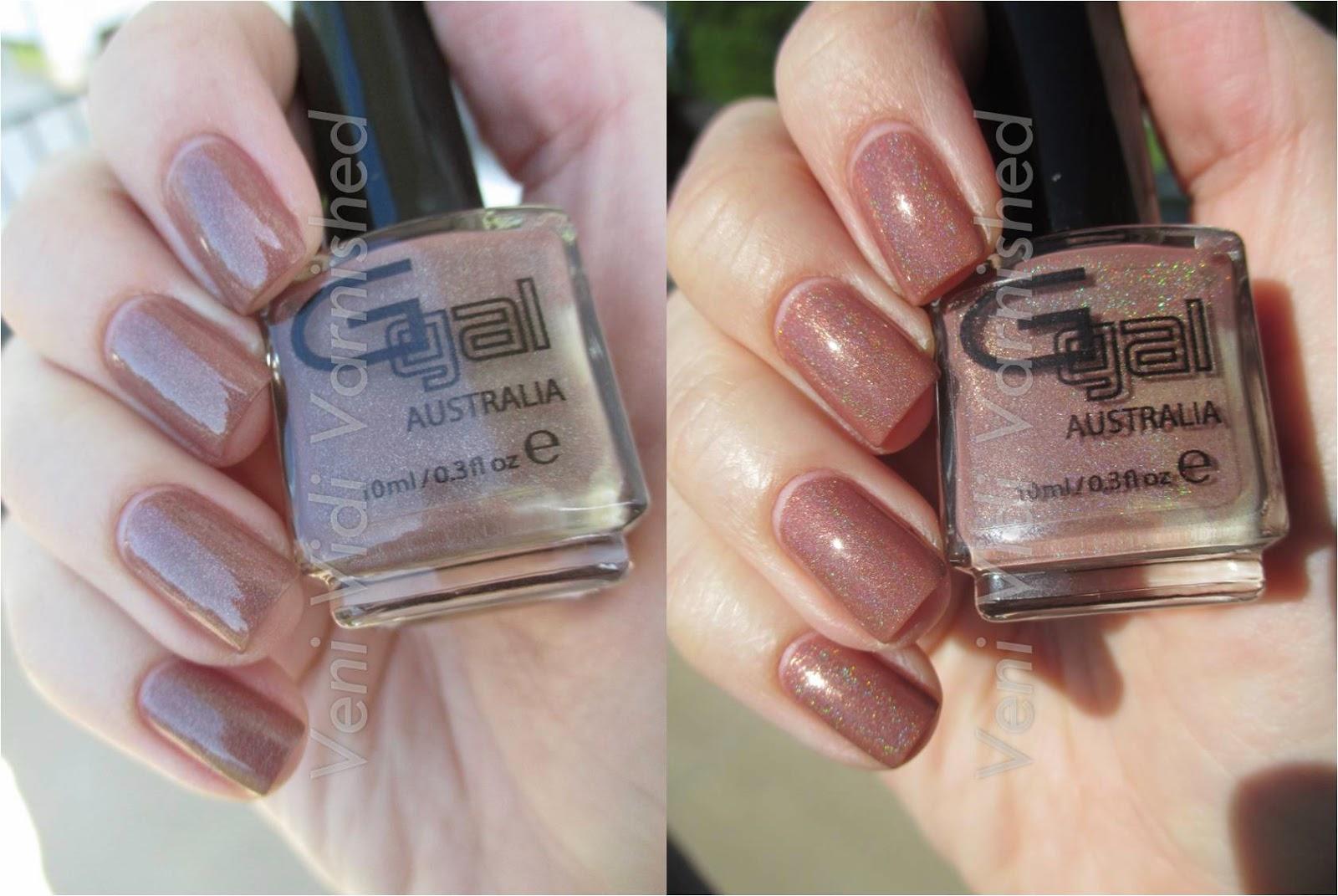 Glitter Gal Australia Suede Holographic Nail Polish