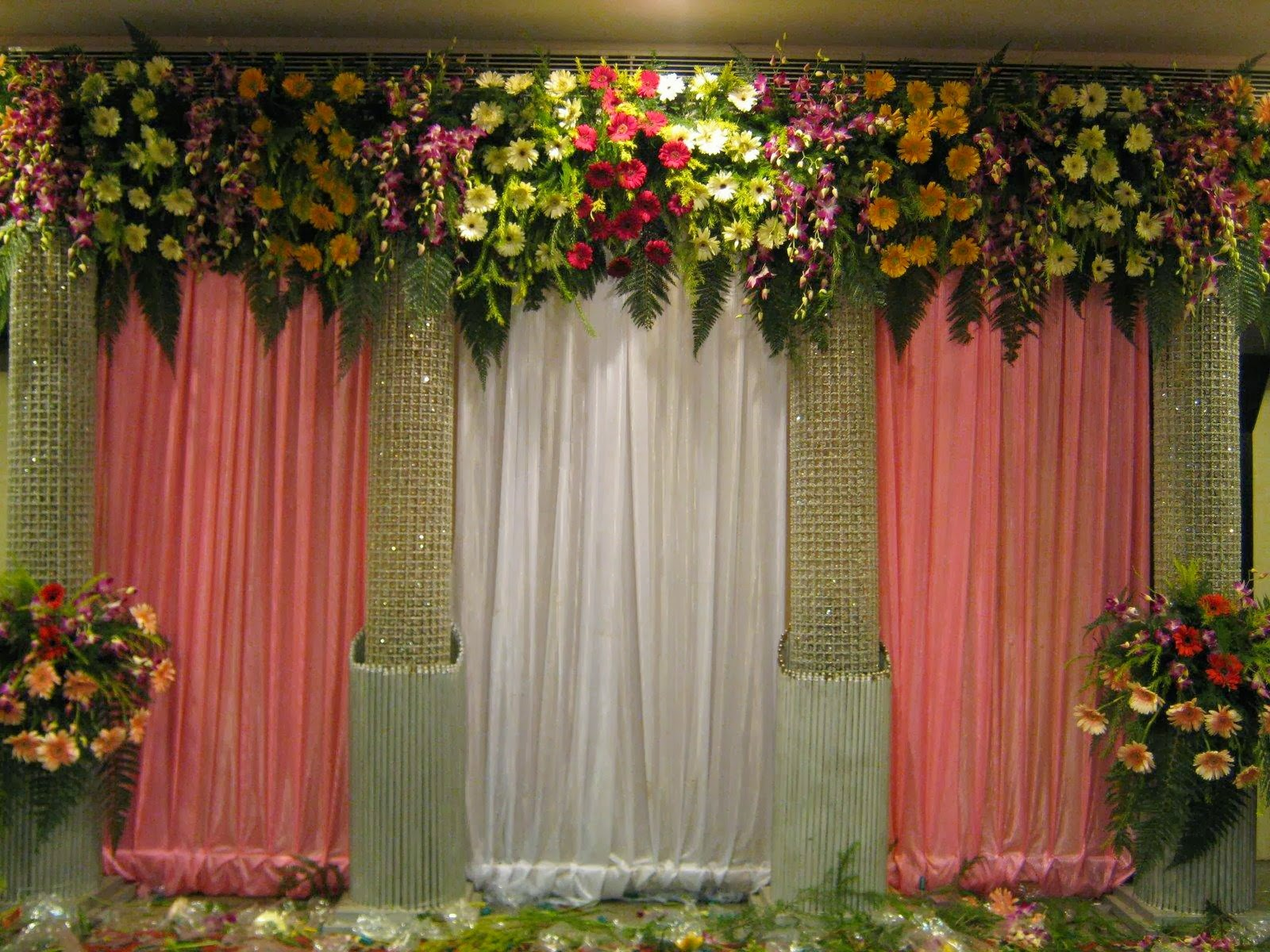 Simple Christian Wedding Stage Decoration Ideas Indian Decorations Viewing Gallery