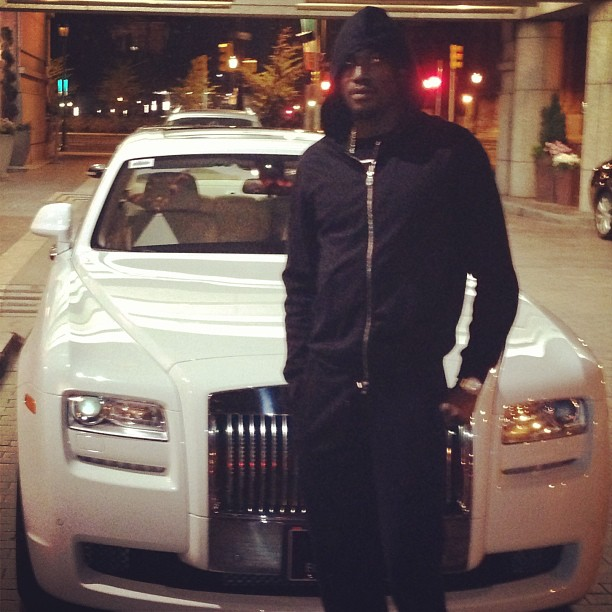 Meek Mill Chilling Infront Of His Maybach