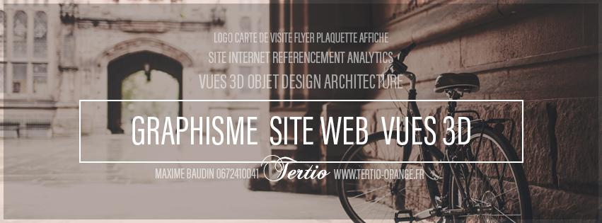 Tertio Orange : infographiste webmaster agence de publicité Maxime Baudin