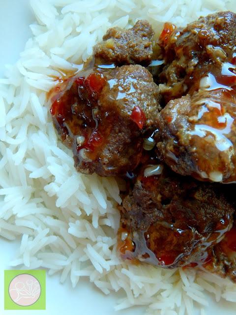 sweet thai chili meatballs (sweetandsavoryfood.com)
