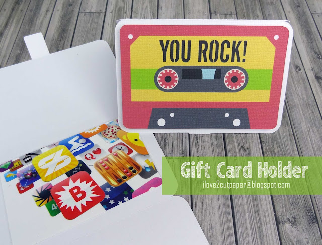 Lettering Delights, ilove2cutpaper, pazzles, pazzles inspiration, pazzles inspiration vue, inspiration vue, svg, wpc, cutting files, gift card holder, cassette, you rock