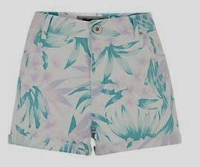 tropical print shorts new look 2014