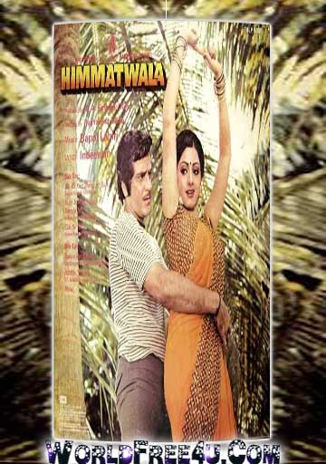 Poster Of Bollywood Movie Himmatwala (1983) 300MB Compressed Small Size Pc Movie Free Download worldfree4u.com