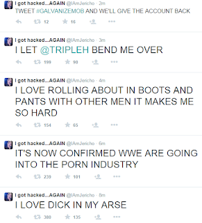 Y2J Instagram Twitter Hack Troll Chris Talk is Jericho