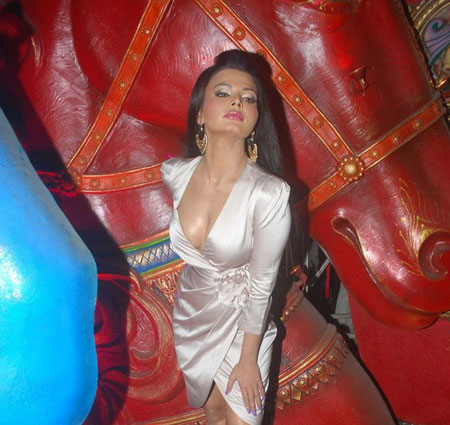 Hot Rakhi Sawant on the Sets of Comedy Circus