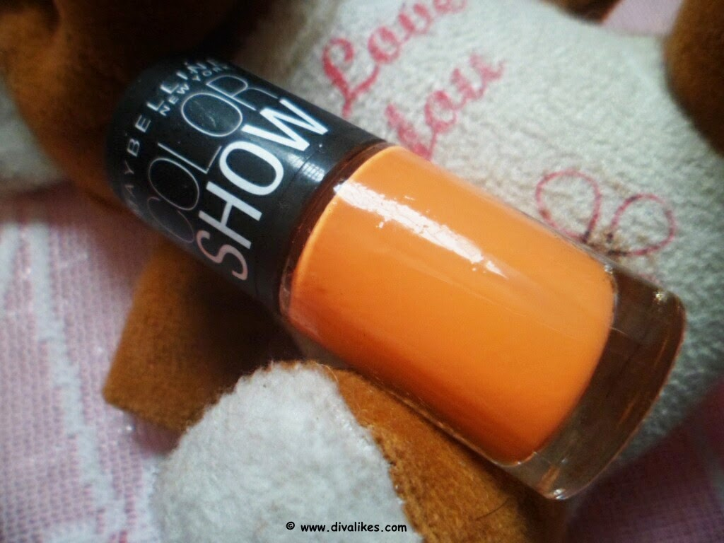Maybelline Color Show Nail Lacquer Tangerine Treat 406 ...